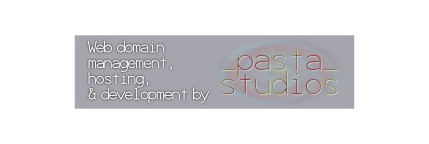 Web domain management, hosting, and development by Pasta Studios